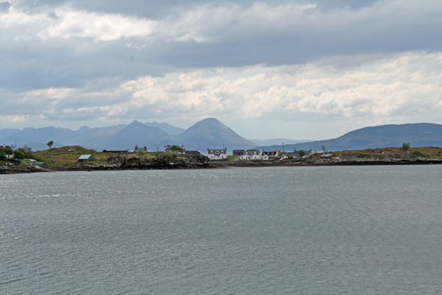 The Cuillin on Skye from the peninsula