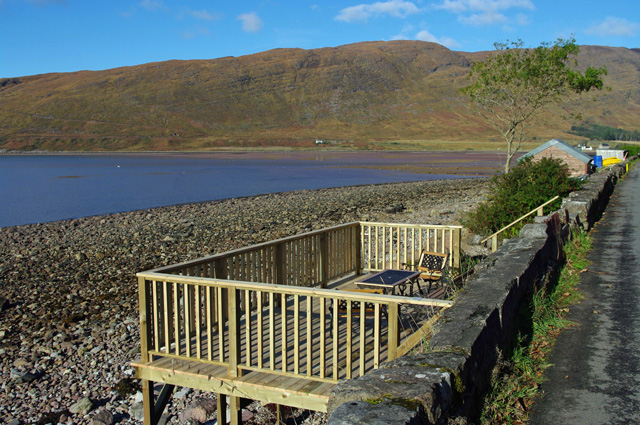 Decking overlooking the sea