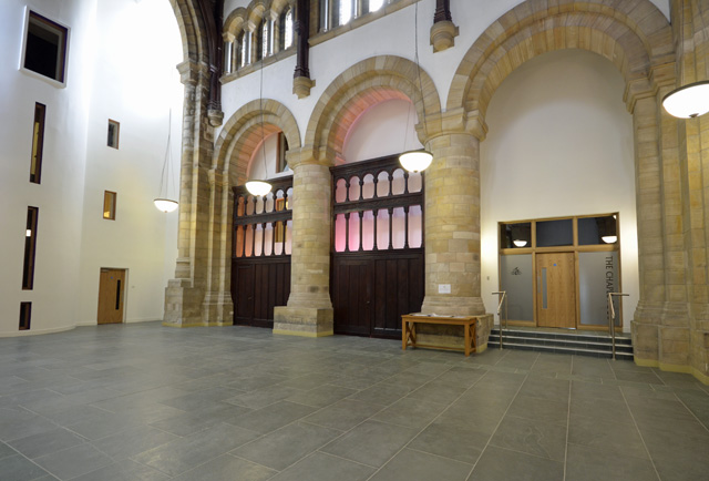 Entrace to the swimming pool - The Chapel