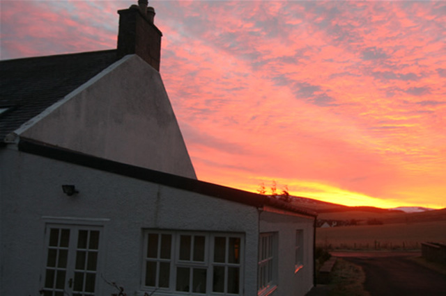 Hillview and a glorious sunset