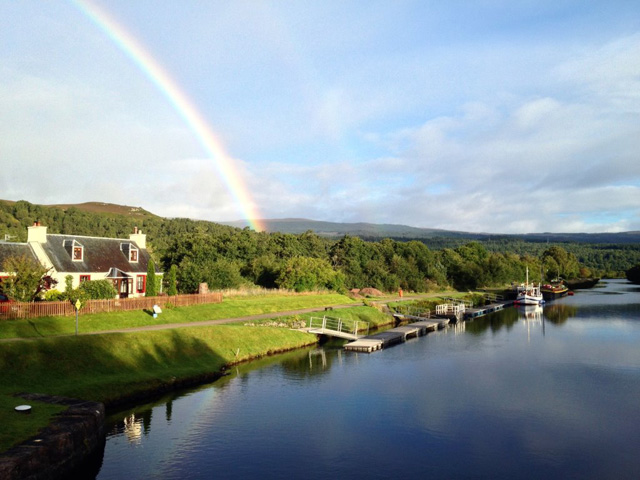 Rainbow over Old Lock Keepers Cottage