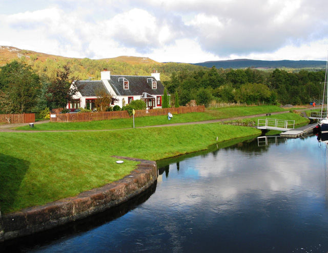 Caledonian Canal at Old Lock Keepers Cottage