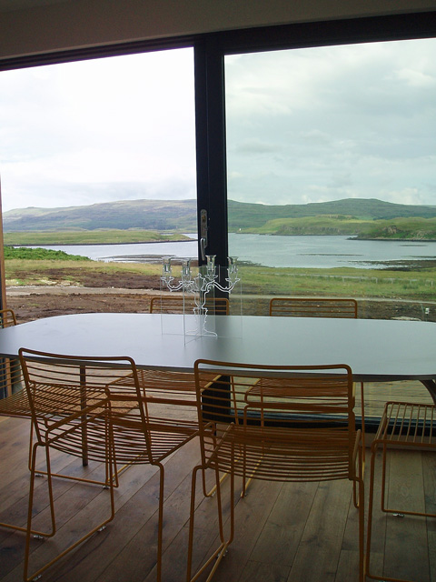 Dining area with views