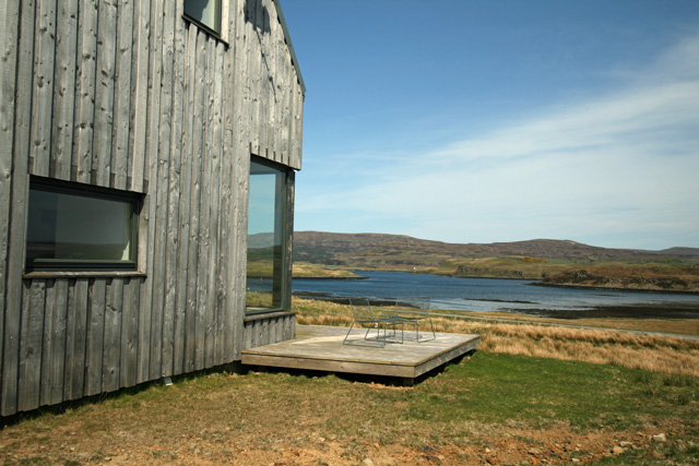 Decking overlooking the loch