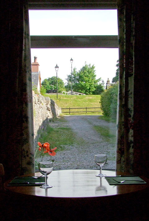 Dining room with views to canal locks