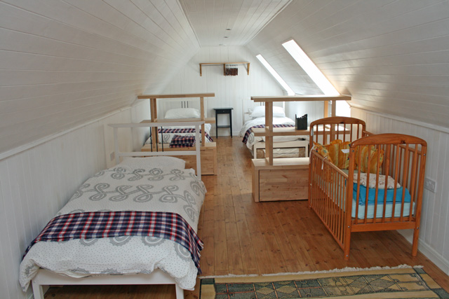 The large dormitory style bedroom – sleeps 5