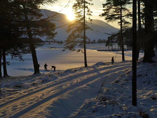 Curling on Loch Tulla