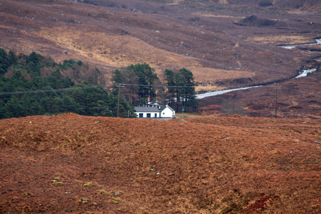 Kinloch Damph Lodge from the road