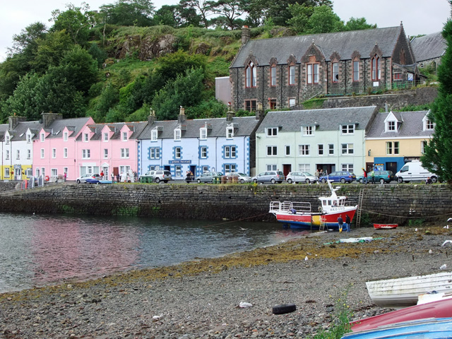 The colourful harbour in Potree just a short drive away
