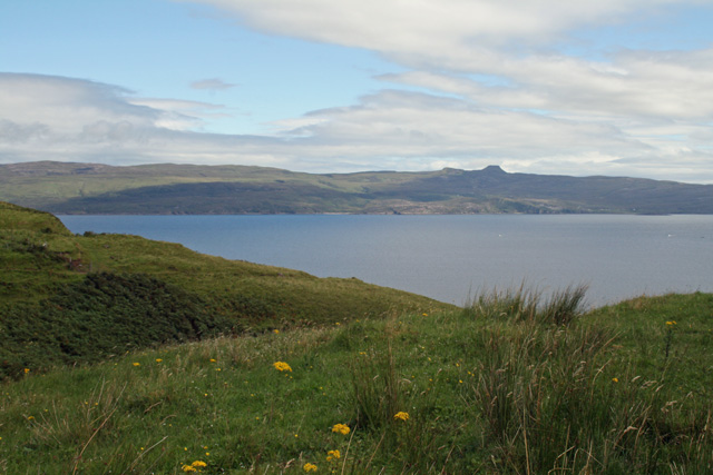 View to Raasay and the flat topped summit of Dun Caan