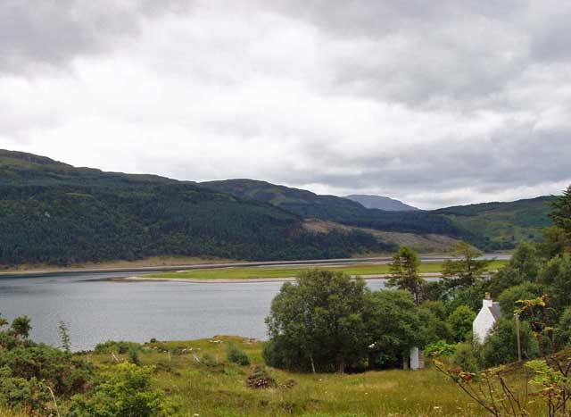 The property sits beside Loch Alsh