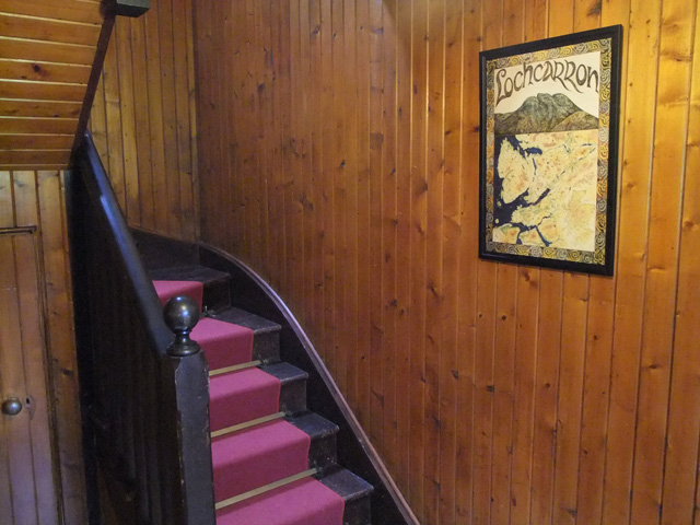 Hall with original varnished lining