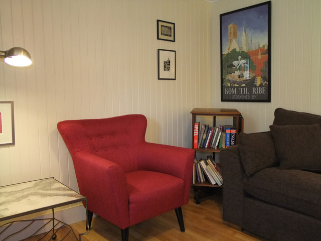 Corner of the lounge