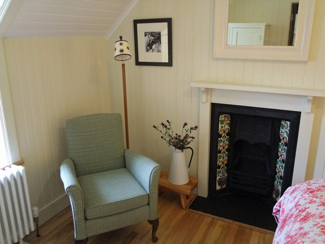 Reading corner in the double bedroom