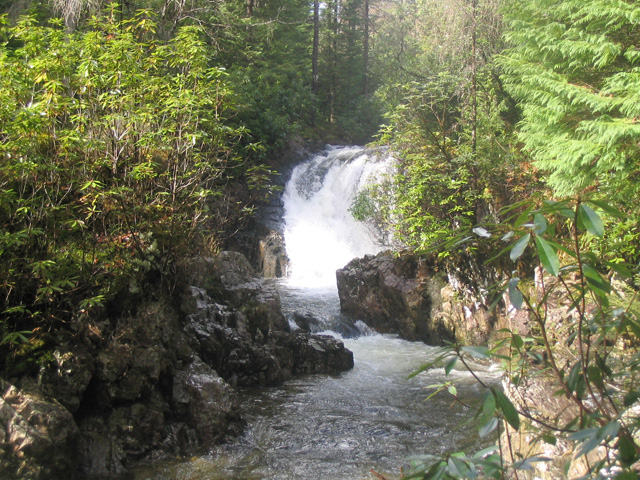 Waterfall on the river Lair