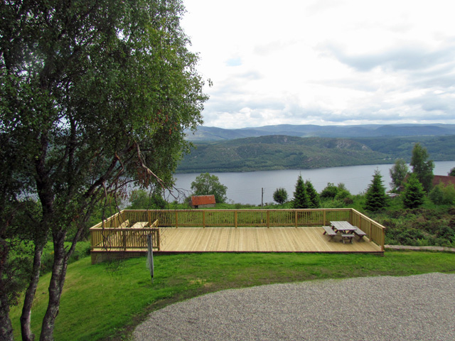 Decking with wonderful views of Loch Ness