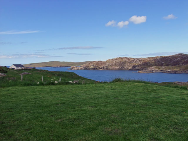 View of Scourie Bay and Handa Island from the garden