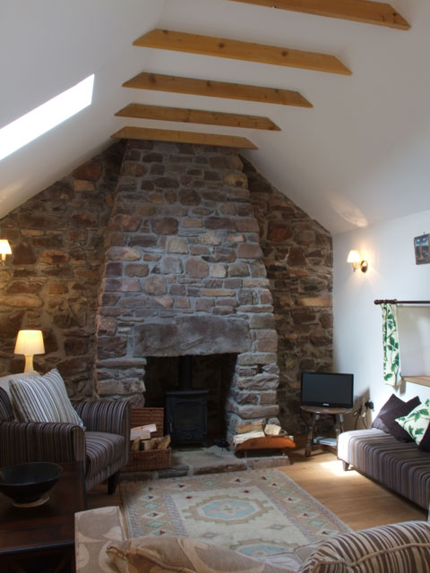 Feature stone work in Lounge