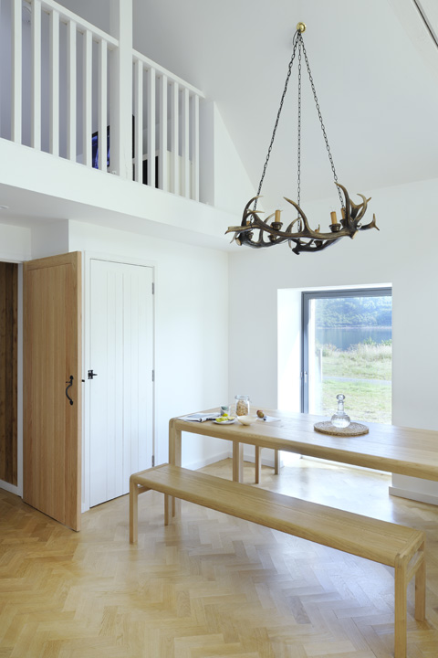 Dining area with views over the loch