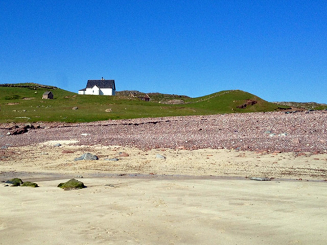 Stoer Lodge from the beach