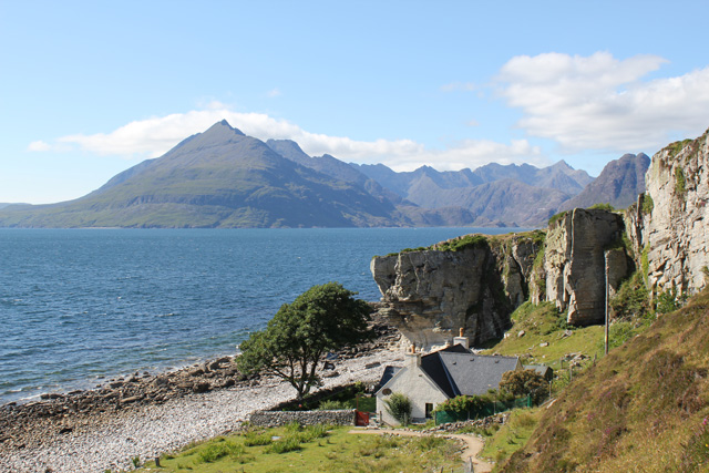 Cottage and view of the Cuillin