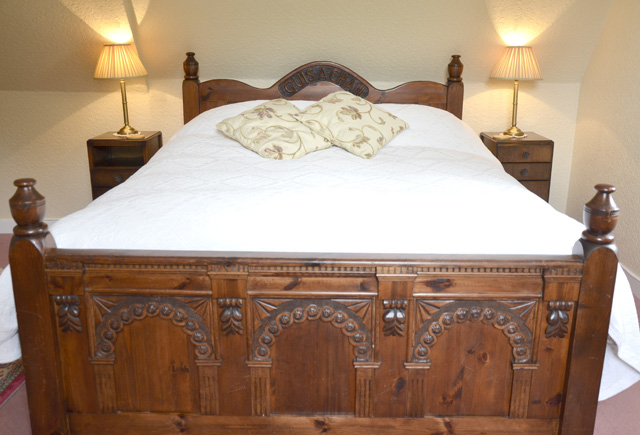 Beautiful hand carved bed