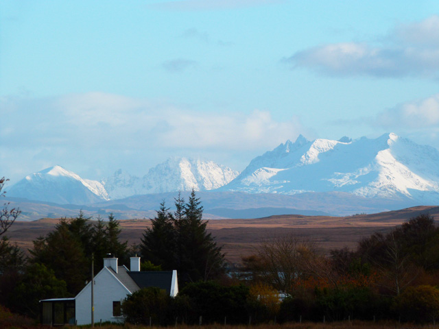 A snowy Cuillin from Orchids