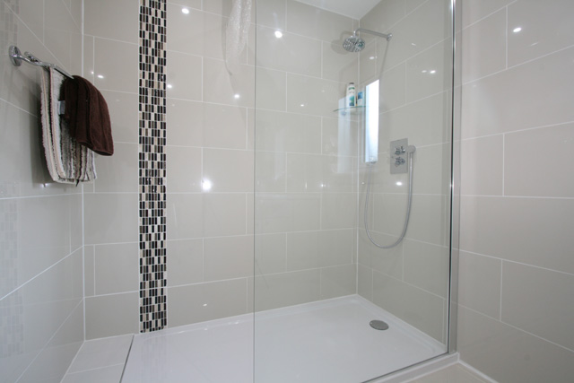 Shower room adjacent to the downstairs bedroom