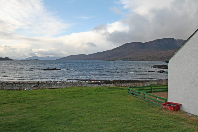 View from the cottage over Loch Kishorn
