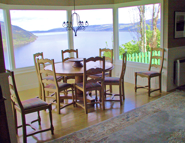 Elevated dining overlooking Loch