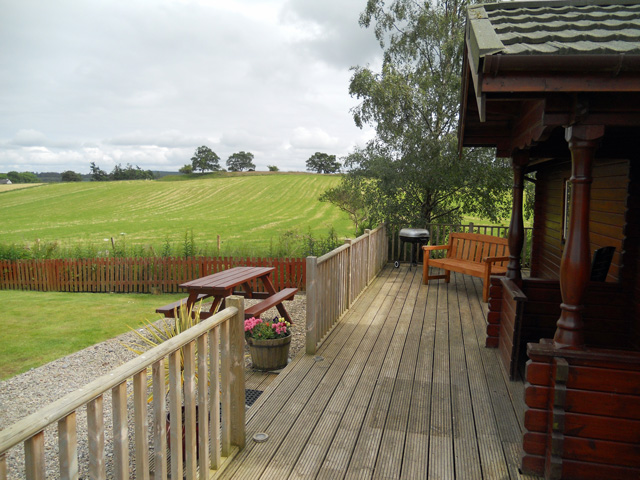 View from the decking